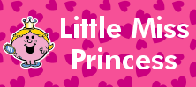 Mr Men and Little Miss name tag Little Miss Princess design