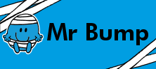 Mr Men and Little Miss name tag Mr Bump design